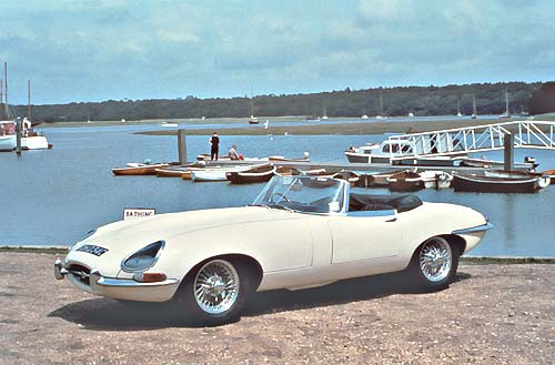 Jaguar E Type Blanco