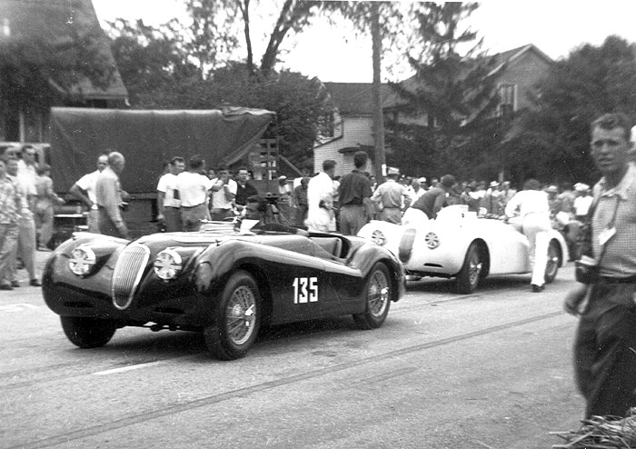 Jaguar  SS Cars Racing history